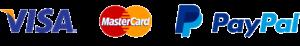 Visa,, Mastercard & PayPal